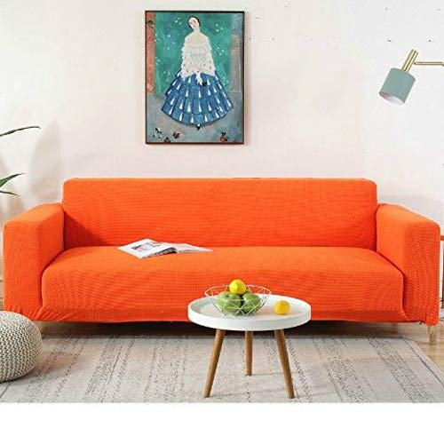 Funda de sofá Gruesa Resistente al Desgaste a Prueba de Garras de Mascotas, Funda de sofá Universal elástica, Suministros de sofá Naranja 90-140cm