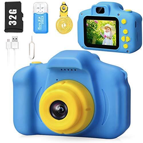 Cámara para niños HD 1080p Video Selfie Cámara Digital para Niños El mejor regalo de cumpleaños para niños de 3 a 8 años de edad y niñas