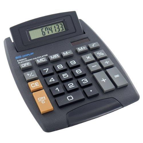Jumbo Desktop Taschenrechner 8Digit Große Knopf Schule Home Office Akku Solar Shopmonk