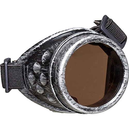 NET TOYS Steampunk Monokel Gothic Einglas Brille Viktorianische Faschingsbrille Historische Fliegerbrille Retro Monokelbrille Vintage EIN-Glas Sonnenbrille Karnevalskostüme Accessoires