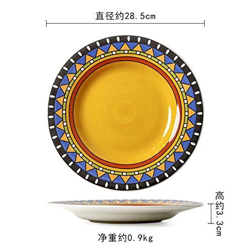 Platos de cerámica para pasta, ensalada, cereales, sopa, microondas y lavavajillas.-Sección F