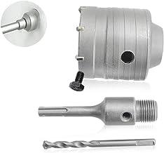 Globaldream Taladro de martillo eléctrico Manija redonda 110 mm Conector + Abridor de orificio de pared Carburo Pared de ladrillo Agujero abierto Agujero hueco Broca