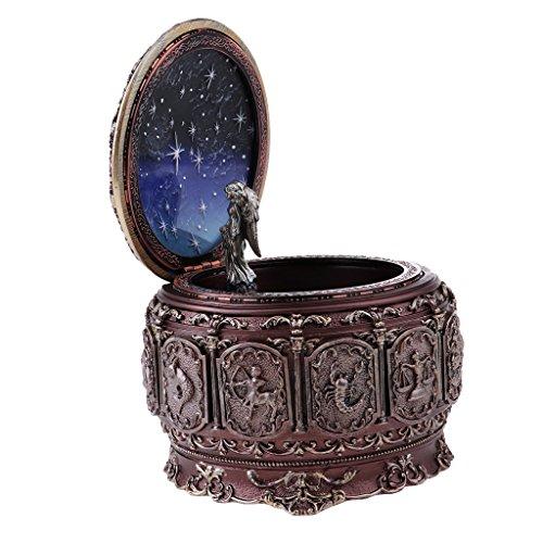 MagiDeal Boîte à Musique Lumineuse Rétro thème à Constellation en Résine pour Décoration - Vierge