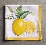 Maison d' Hermine Limoncello 100% Baumwolle Weiches und bequemes 4er-Set Servietten Perfekt für Familienessen | Hochzeiten | Cocktail | Küche | Startseite | Frühling/Sommer (45 cm x 45 cm) - 6