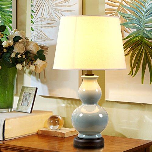 Bonne chose lampe de table Lampe de table en céramique Gourd Warm New Chinese Living Bedroom Lampe de chevet Lampe d'étude