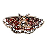 REAL SIC Moth Enamel Pin - Occult Lapel Pin In 4 Different Colors - Cinnabar Moth, Luna Moth Lapel Pins - Moth Meme Enamel Pin Accessory for Jackets, Backpacks, Hats, Bags & Tops (Cinnabar (Red))