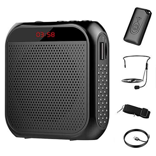 Amplificador de voz con transmisor inalámbrico, altavoz inalámbrico portátil DELT Mini amplificador de voz compatible con USB/TF para entrenador de profesores, entrenamientos, guía turística