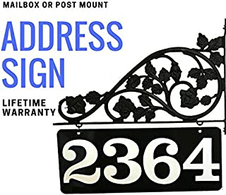 Mailbox Address Sign - Double Sided Reflective Address Sign that is 911 Visible | Custom Made