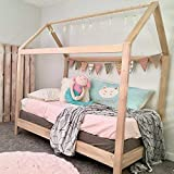 Product Image of the House Bed Frame Twin Size with legs (deluxe version) PREMIUM WOOD