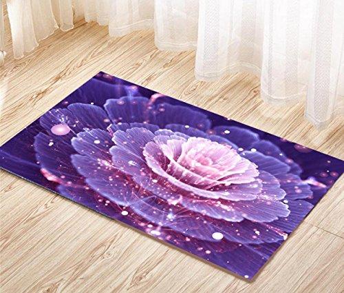 Tappetino per doccia antisdrucciolo Tappeto idrogetto tappeto Aqua Area acqua Bagno cassaforte , purple , 50*80cm