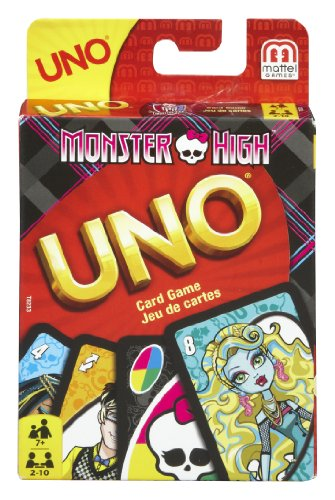 Mattel t8233–Uno Monster High, Gioco di Carte (Lingua Italiana Non Garantita)