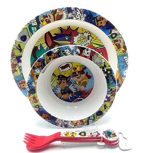 Juego de cuenco, plato y cubiertos, Chase and Marshall Design, juego de vajilla.
