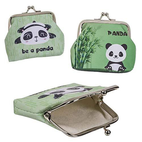 Monedero pequeño Oso Panda con Boquilla 2 Modelos al Azar