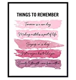 Positive Inspirational Quotes Wall Decor - Uplifting Encouragement Gifts for Women, Girls, Teens, Daughter, BFF, Best Friend - Pink Motivational Wall Art Poster for Home Office, Bedroom, Bathroom