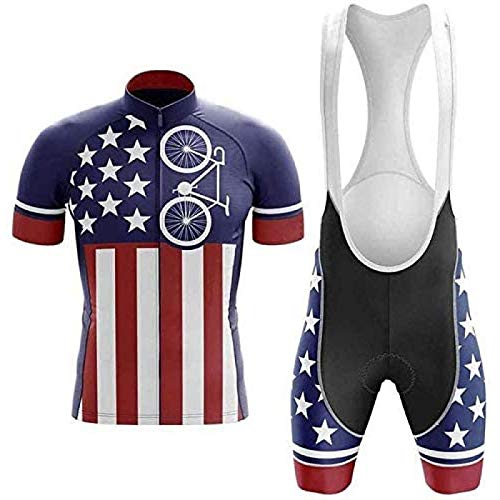 ZHANG Jersey De Ciclismo Jersey De Manga Corta Pantalones Cortos De Ciclismo Jerseys De Ciclismo Transpirables Conjunto Completo De Ciclismo Al Aire Libre Rápido para Hombres,A-5XL