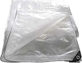 LIXIONG dekzeil voor buiten, transparant, verdikt polyetheen, waterdicht, winddicht, stofdicht dekzeil, 17 maten (kleur: h...