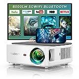 YABER WiFi Bluetooth 5G Beamer 8500 Lumen Full HD 1080P Heimkino Beamer, mit 4-Punkt Trapezkorrektur, Support 4k&50% Zoom,PPT Präsentation Beamer kompatibel mit iOS /Android/PC/Fire Stick Projektor