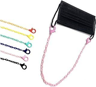 Pingyongchang - Juego de 6 cadenas de mascarilla coloridas para mascarilla para mujeres hombres y hombres, cadena ajustabl...
