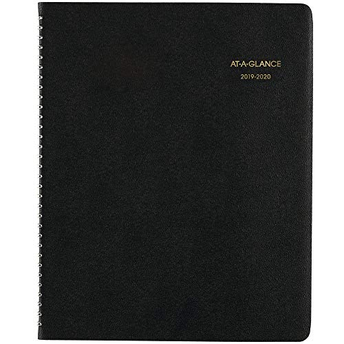 "2019-2020 Academic Planner, AT-A-GLANCE Monthly Planner, 9"" x 11"", Large, Black (7007405)"