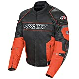 Joe Rocket Speedmaster Men's Leather Motorcycle Jacket (Stealth Black, Size 42)