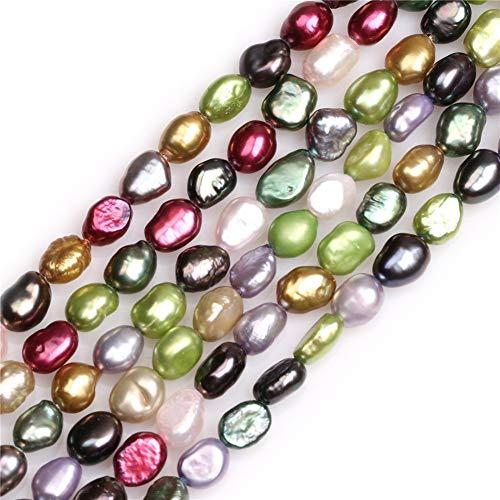 Sweet & Happy Girl's store 5-6mm Freeform Mixed Farbe S¨¹?wasser-Zuchtperlen Perlen Strang 15 Zoll Schmuckherstellung Perlen