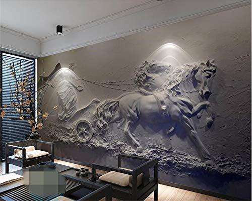 Behang, Custom 3D wallpaper stereoscopisch reliëf serie engel slee wanddecoratie kunstdruk muurschildering poster foto Hd afdrukken voor woonkamer slaapkamer Hotel Cafe Home Decor Grote 200cm(H)×300cm(W) zoals getoond