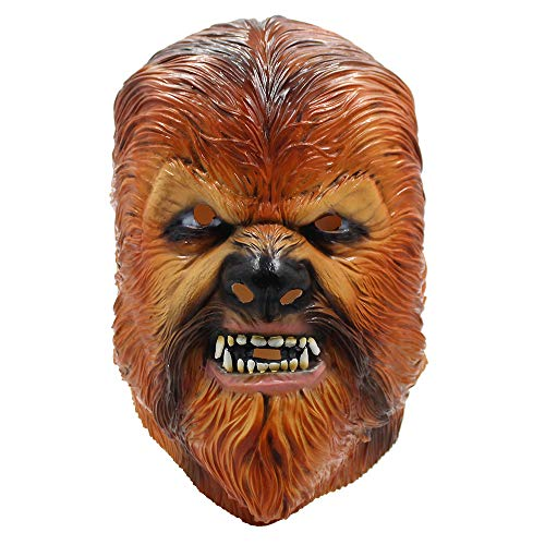 ZhuYiCheng Máscara de Chewbacca, Star Wars Carolyn's Skywalker, Rising Apeman Chubaka Latex Mask