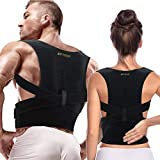 Full Back Support Posture Corrector for Men and Women- Adjustable Medical Posture Brace Provides Lumbar & Back Support for Shoulder, Clavicle, Lower and Upper Back (New 2XL/3XL (Waist 42-61.5 in))