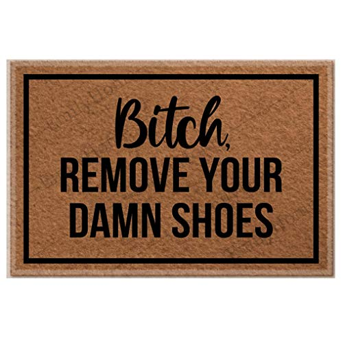 Fenrris65 - Alfombra decorativa de goma antideslizante para quitar tus malditos zapatos para el hogar y la oficina, 23,6 x 15,7 pulgadas