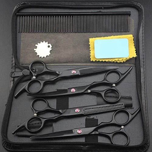 YLLN Haarschere Friseurschere Linkshänder, 6 Zoll - 7 Zoll Professionelle Friseur Friseur Schere Set Retro Friseur Schere, Schere Haarschere Set, A, 6 Zoll Set