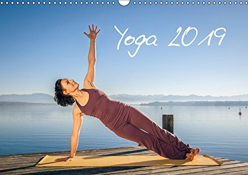 Yoga (Wandkalender 2019 DIN A3 quer): Meditatives Yoga am See (Monatskalender, 14 Seiten ) (CALVENDO Sport)