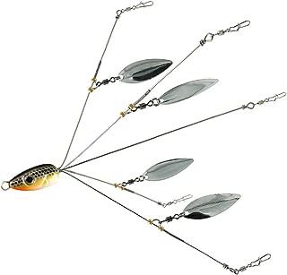 5 Arms Alabama Umbrella Rig Fishing Ultralight Tripod Bass Lures Bait Kit Junior Ultralight Willow Blade Multi-Lure Rig