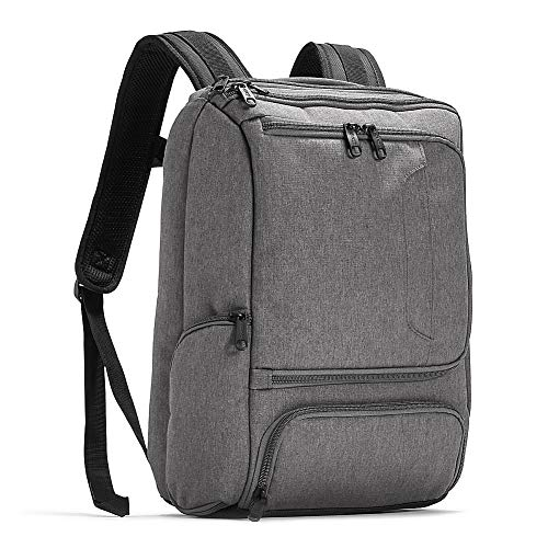 eBags Professional Slim Junior Laptop Backpack for Travel, School & Business - Fits 15.75 Inch Laptop - Anti-Theft - (Heathered Graphite)