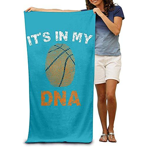 utong Toallas de Playa 100% algodón 80x130cm Toalla de Secado rápido Manta de Playa DNA Basketball