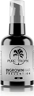 Pure Tropix Ingrown Hair Treatment & Prevention For Bikini Line | 100% Natural Razor Bump Treatment Cream For Women & Men | Face, Armpit, Legs, Neck, Bikini Line 2 oz (59) ml