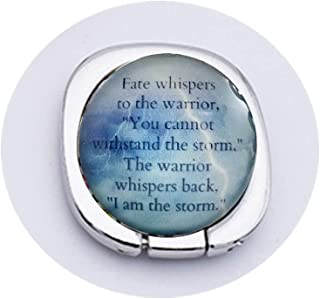 Fate Whispers Quote Warrior Quote Inspirational Quote I Am The Storm Mobile Phone Grip