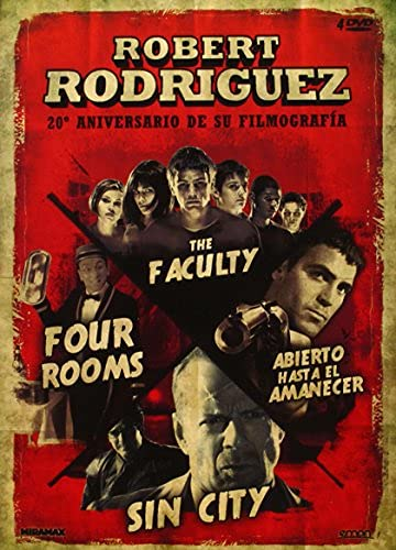 Robert Rodriguez Collection - 4-DVD Set ( Four Rooms / The Faculty / From Dusk Till Dawn / Sin City ) [ Spanische Import ]