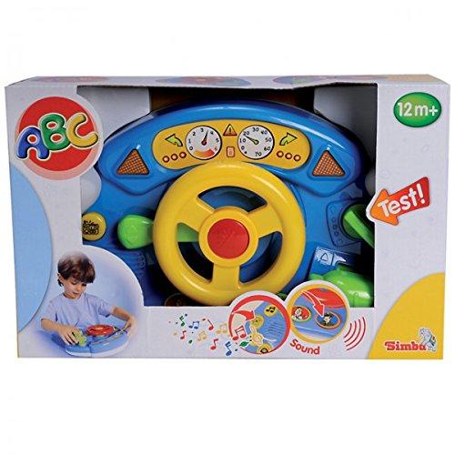 SIMBA ABC Cockpit Lenker mit Licht und Sound ab 12 Monate Motorik Spielzeug Baby NEU, Farbe:Gelb
