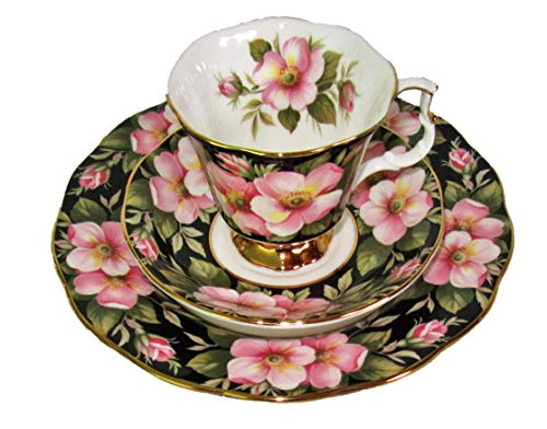 Royal Albert Alberta Rose - Juego de tazas (3 unidades), diseño de flores