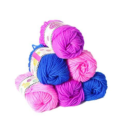 Floridivy 6 Bundels breigaren Mannen Vrouwen Machine Breien Sjaal Hat Cord Thread Kinderen DIY Haak Toys