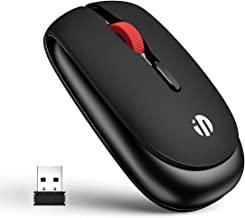 Wireless Mouse, Inphic 2.4G Wireless Silent Computer Mouse with USB Receiver, 5 Adjustable DPI, 4 Buttons Slim Portable Co...