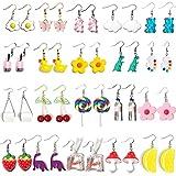Weird Earrings Funny Earrings Aesthetic Indie Y2k Accessories Cool Fun Cute Funky Alt Kidcore Novelty Kawaii Quirky Dangly Creative Object Crazy Drop Dangle Earrings for Women Girls Egirl
