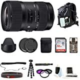 Sigma 18-35mm F1.8 Art DC HSM Lens for Canon DSLR Cameras W/ 32GB SD Card + Tripod Advanced Travel Holiday...
