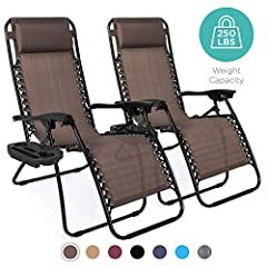 LOCKABLE RECLINING SYSTEM: Smoothly glides into an ergonomic zero-gravity position, with removable elastic cords that immediately adjust to your body's weight PORTABLE DESIGN: Lightweight, foldable design makes these an easy addition to your next tri...