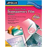Apollo Transparency Film for Inkjet Printers, Universal, Quick Dry, 50...
