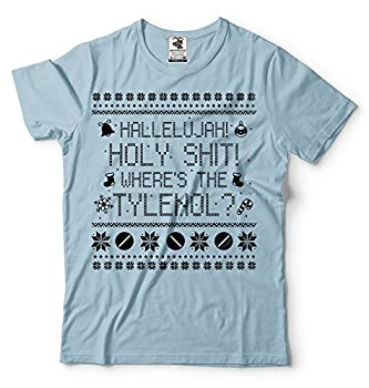 Funny Christmas T-Shirt Movie Quote Where is Tylenol Tee Shirt Griswold Family Vacation tee Shirt XXX-Large Light Blue