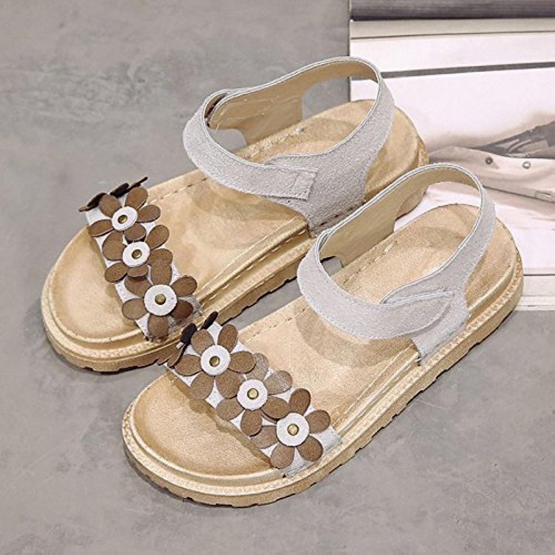 Women's shoes Rubber Summer Comfort Sandals Flat Heel for Outdoor Black Beige Camel