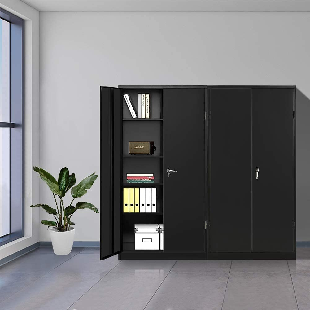 Black Tall Special Campaign Metal Storage Cabinet C Locking Pataku Today's only Steel