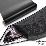 TECKWRAP ヘッドライトフィルム (磨りガラスタイプ)黒 (ブラック) 30cm×200cm アイラインフィルム テールランプフィルム グロス (艶なし) フィルム シート シールタイプ