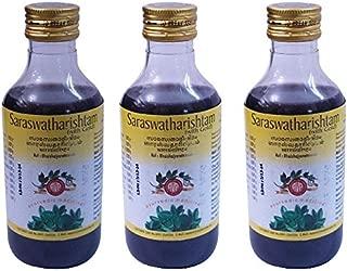 Pack of 3 - AVP Saraswatharishtam with Gold 200ml